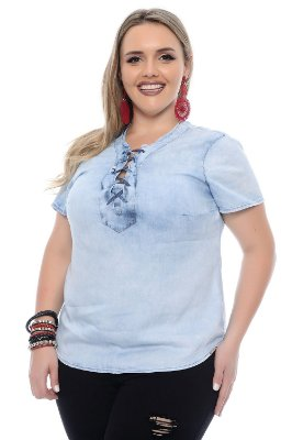 Blusa Plus Size Lauren