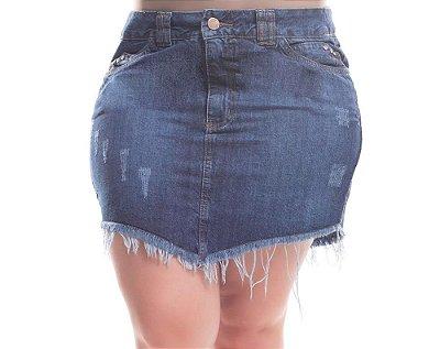 Saia Plus Size Jeans Ludmila