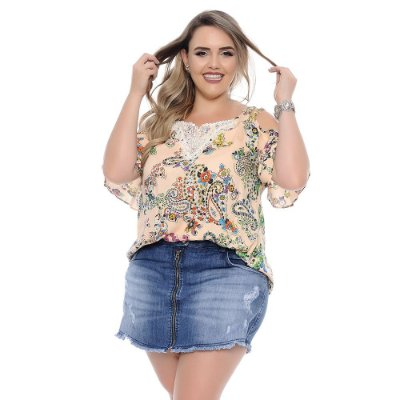 Shorts Saia Plus Size Luiza