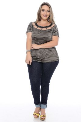 Calça  Plus Size Skinny Lycra
