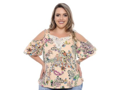 Blusa Plus Size Rose