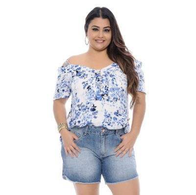 Shorts Plus Size Boyfriend Wanessa