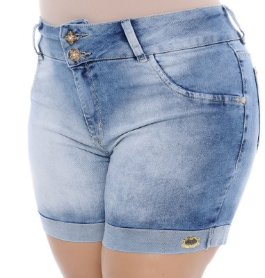 Shorts Plus Size Aline
