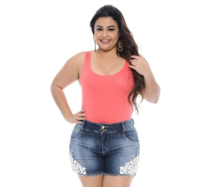 Shorts Plus Size Cláudia