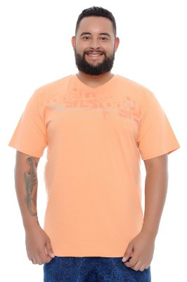 Camiseta Masculina Plus Size Isac