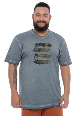 Camiseta Masculina Plus Size Maurício