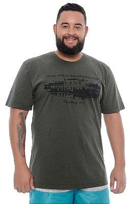 Camiseta Masculina Plus Size Saulo
