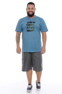 Bermuda Masculina Plus Size Tactel Rurique