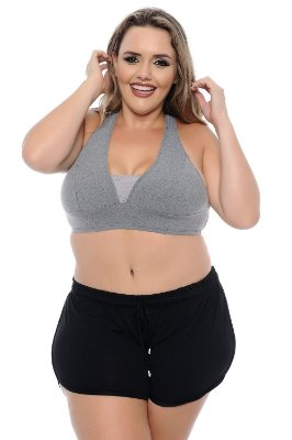 Top Plus Size com Tela
