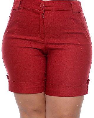 Bermuda Plus Size Liora Vermelha