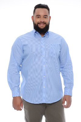 Camisa Masculina Plus Size Heitor