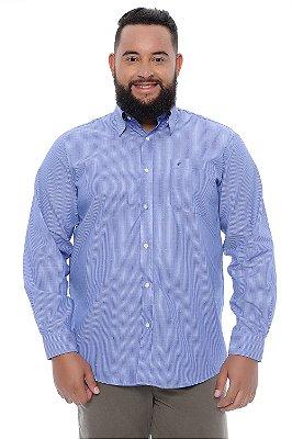Camisa Masculina Plus Size Aélcio