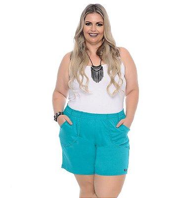 Shorts Plus Size Com Elástico Nara