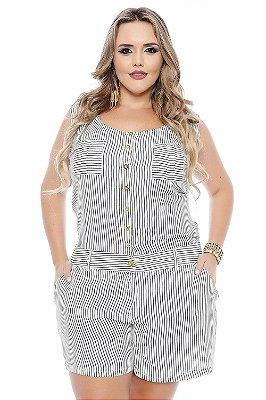 Macaquinho Plus Size Ana Beatriz