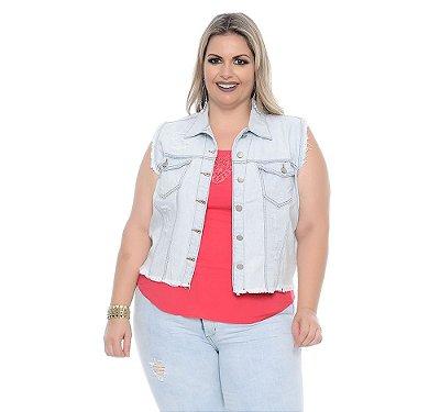 Colete Plus Size Jeans Joice