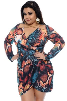 Vestido Plus Size Cherry