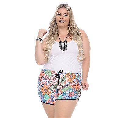 Shorts Plus Size Com Elástico Yasu