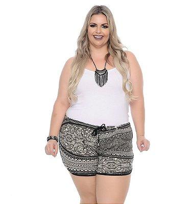 Shorts Plus Size Com Elástico Chie