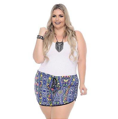 Shorts Plus Size Com Elástico Toshio