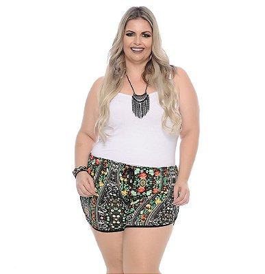 Shorts Plus Size Com Elástico Emiko