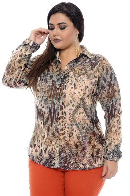 Camisa Plus Size Imelda May