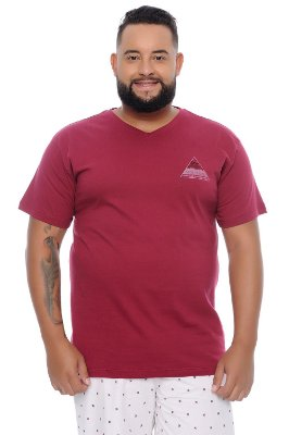Camiseta Masculina Plus Size Max