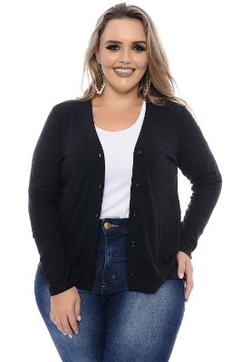 Cardigan Plus Size Poly