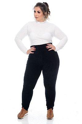 Calça Plus Size Veludo Karol