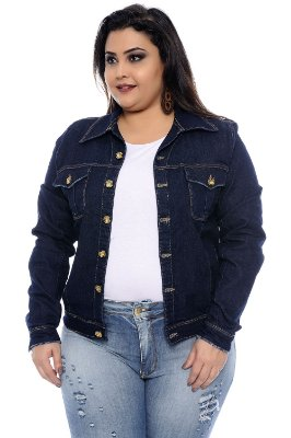 Jaqueta Jeans Plus Size Amitis