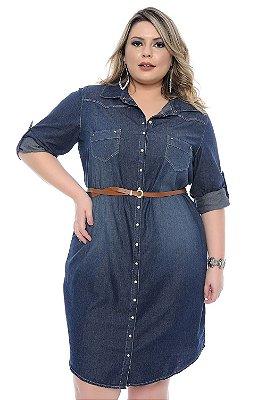 Vestido Jeans Plus Size Anabella