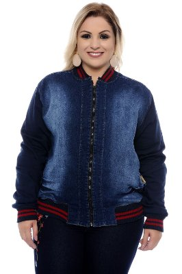 Bomber Jeans Plus Size Fontini