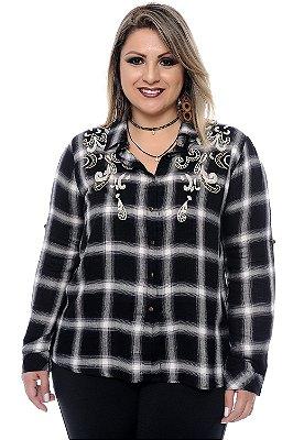 Camisa Xadrez Plus Size Doris