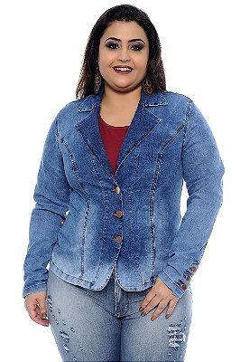Blazer Jeans Plus Size Tânia