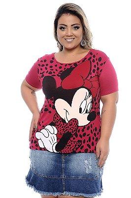 Blusa Plus Size Minnie Pink