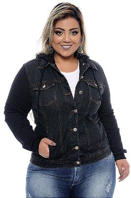 Jaqueta Jeans Plus Size Vangie Black
