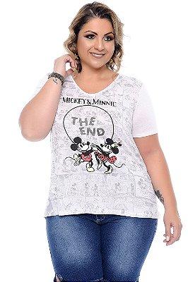 Blusa Plus Size Disneylandia White