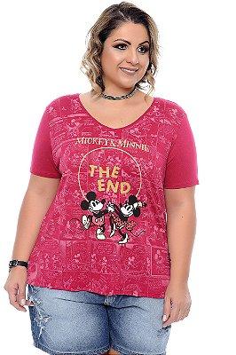Blusa Plus Size Disneylandia Red