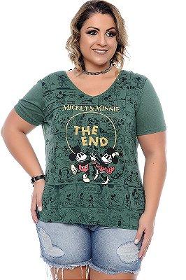 Blusa Plus Size Disneylandia Green