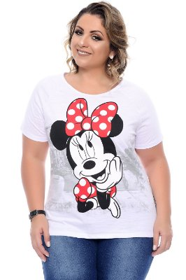 Blusa Plus Size Minnie White