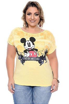 Blusa Plus Size Mickey Yellow