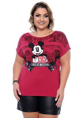 Blusa Plus Size Mickey Pink