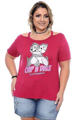 Blusa Plus Size Esquilos Pink