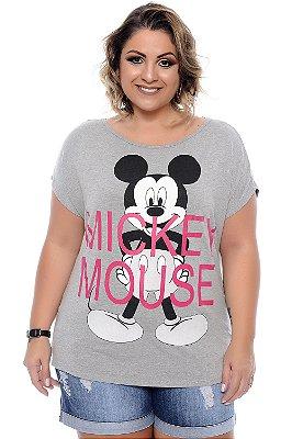 Blusa Plus Size Mickey Grey