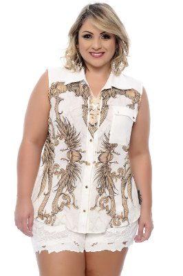 Camisa Plus Size Kyrie
