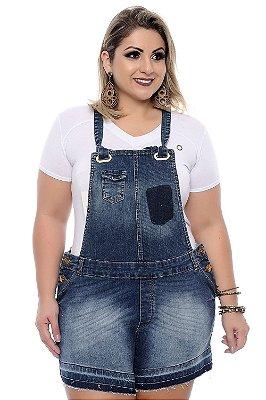 Jardineira Jeans Plus Size Marla