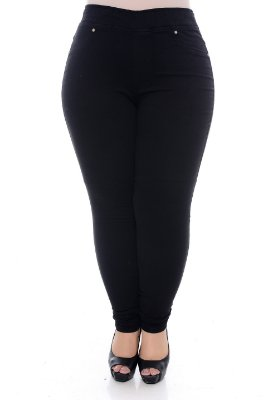 Calça Plus Size Legging Black