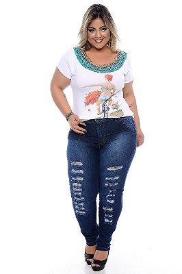 Calça Jeans Plus Size Dhalya