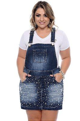 Jardineira Shorts Saia Plus Size Marylete