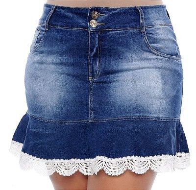 Saia Jeans Plus Size Zelaine