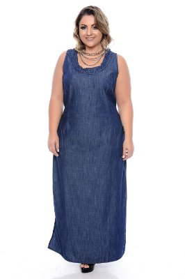 Vestido Jeans Plus Size Silvana
